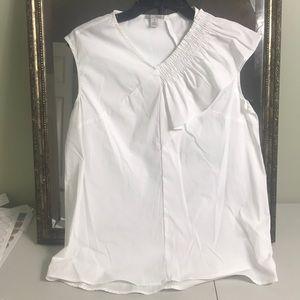 Halogen asymmetrical sleeveless blouse Sz XSP